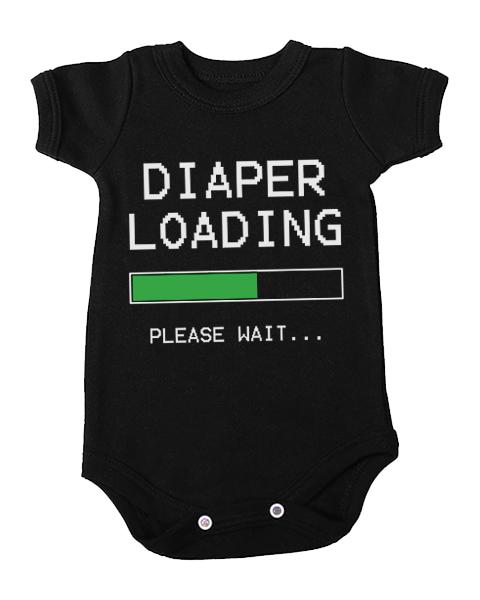 diaper loading baby black