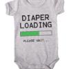 diaper loading baby grey