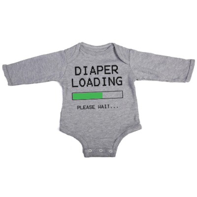 diaper loading baby grey long sleeve