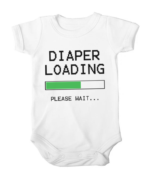 diaper loading baby white