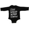 eat sleep poop repeat baby black long sleeve