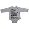 eat sleep poop repeat baby grey long sleeve