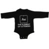 element of cuteness baby black long sleeve