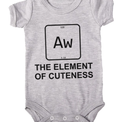 element of cuteness baby grey