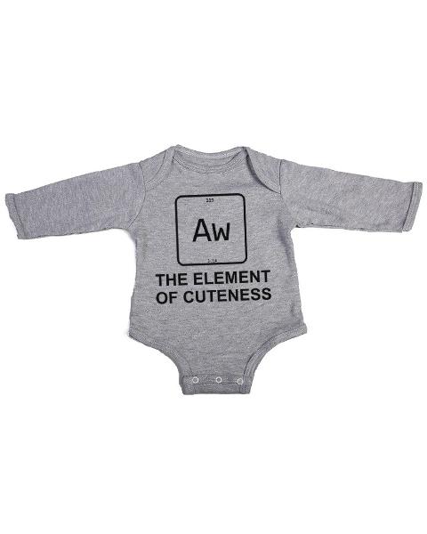 element of cuteness baby grey long sleeve