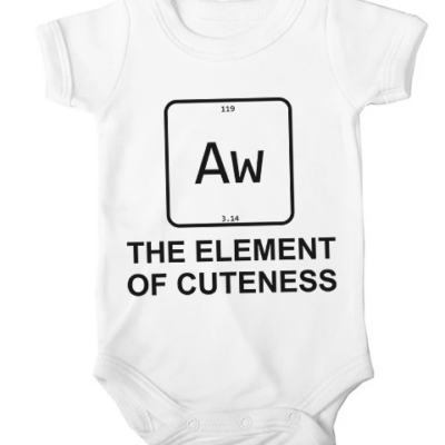 element of cuteness baby white