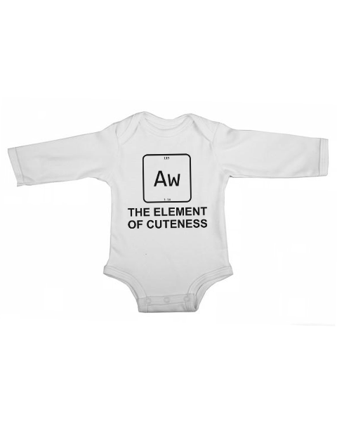 element of cuteness baby white long sleeve
