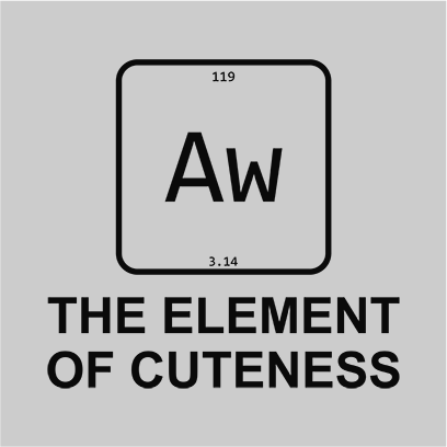 element of cuteness grey square