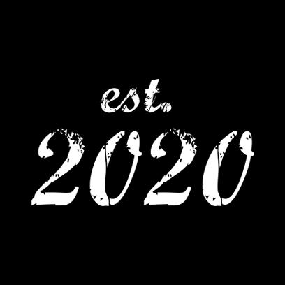 established 2020 black square