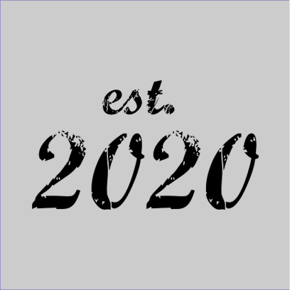 established 2020 grey square
