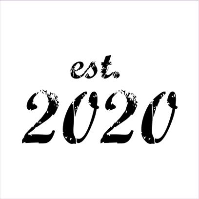 established 2020 white square