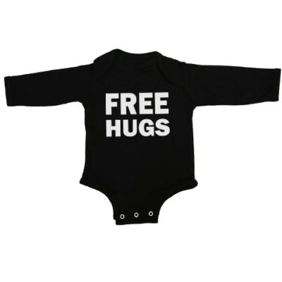 free hugs baby black long sleeve
