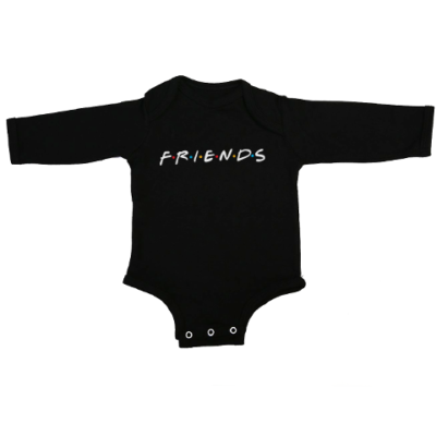 friends baby black long sleeve