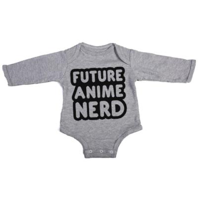 future anime nerd baby grey long sleeve