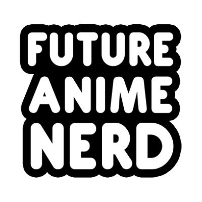 future anime nerd white square