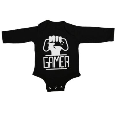 gamers unite baby black long sleeve