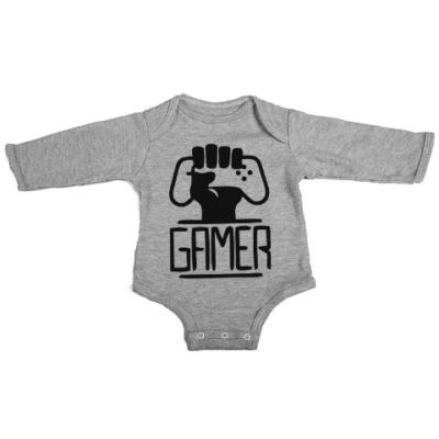 gamers unite baby grey long sleeve