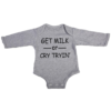 get milk baby grey long sleeve