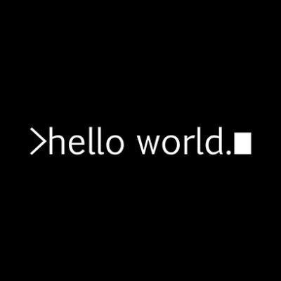 hello world black square