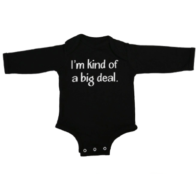 kind of a big deal baby black long sleeve