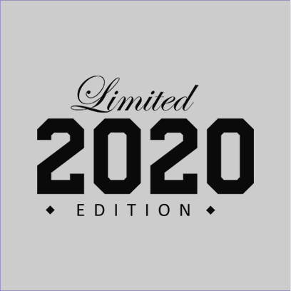 limited edition 2020 grey square