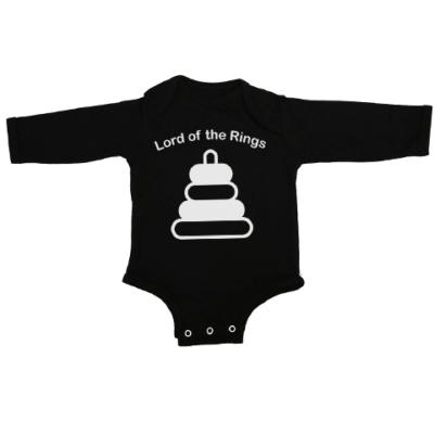 lord of baby rings baby black long sleeve