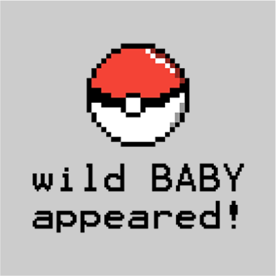 wild baby appeared grey square