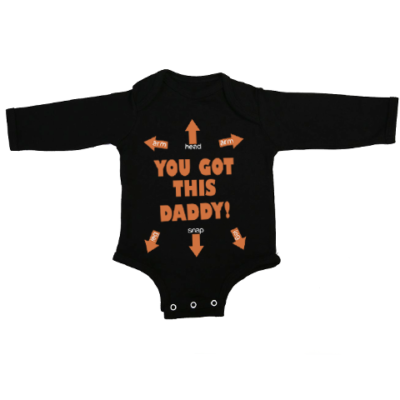 you got this daddy baby black long sleeve