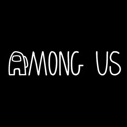 among us logo black square
