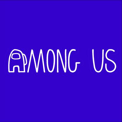 among us logo blue square