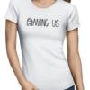 among us logo ladies tshirt white