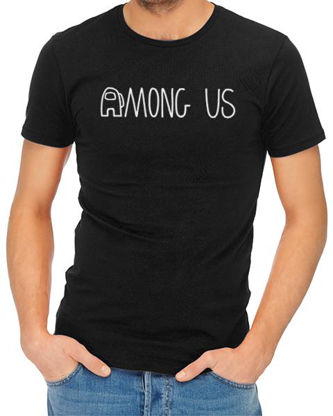 among us logo mens tshirt black