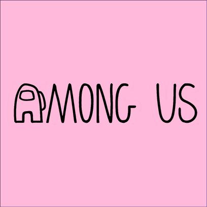among us logo pink square
