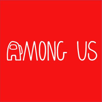 among us logo red square