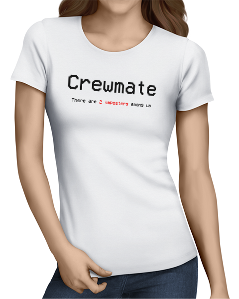 crewmate ladies tshirt white