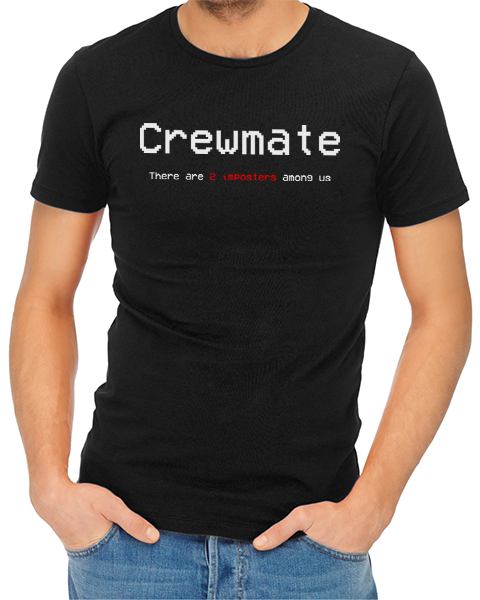 crewmate mens tshirt black