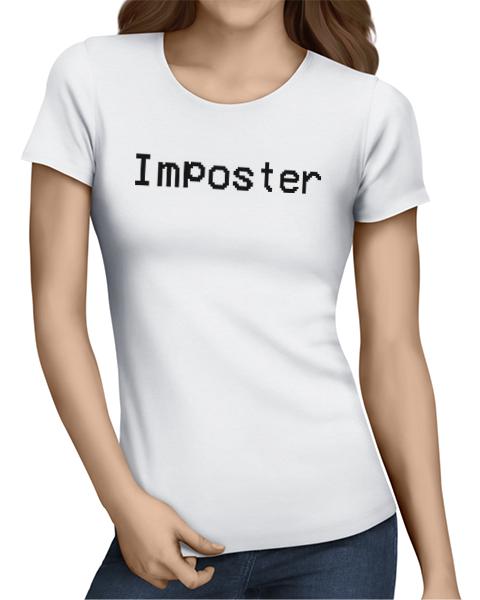 imposter ladies tshirt white