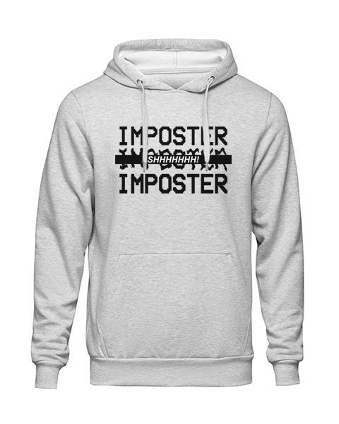 imposter shhh Grey Hoodie jb