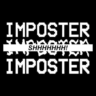 imposter shhh black square