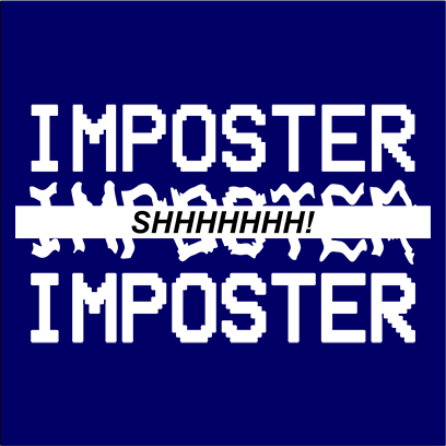 imposter shhh navy square