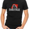 sabotage mens tshirt black