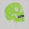 Melting Skull grey square