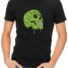 Melting Skull mens tshirt black