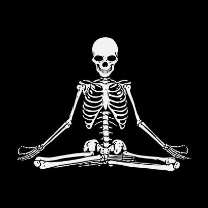 Zen Skull black square