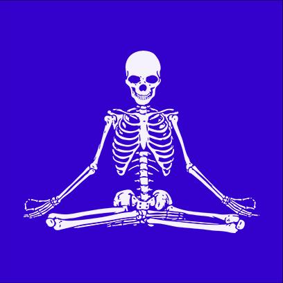 Zen Skull blue square