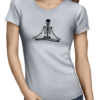 Zen Skull ladies tshirt grey