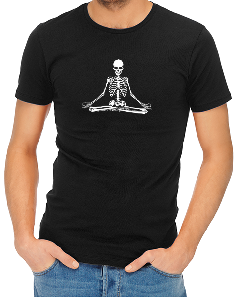 Zen Skull mens tshirt black