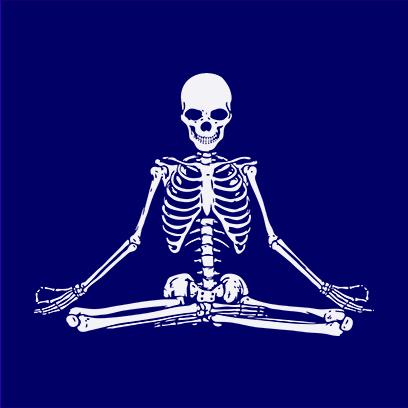 Zen Skull navy square