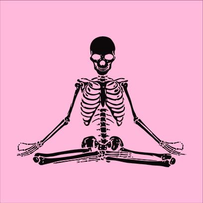 Zen Skull pink square