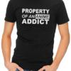 anime addict mens tshirt black